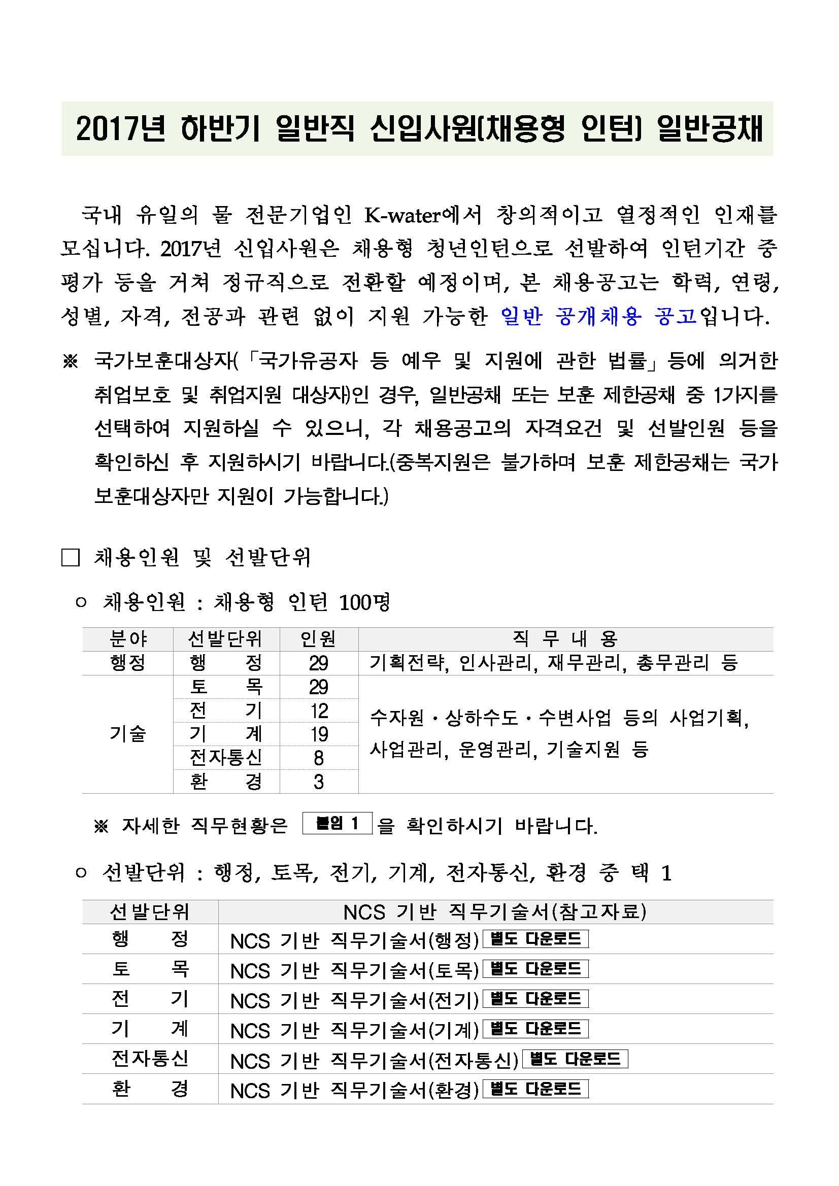 2017년 하반기 일반직 신입사원(채용형 인턴) 일반공채 공고문_페이지_01.jpg